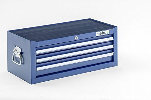 Werkzeugkiste Aufsatz 3 Schubladen Blau 1 Werkstattwagen Leer